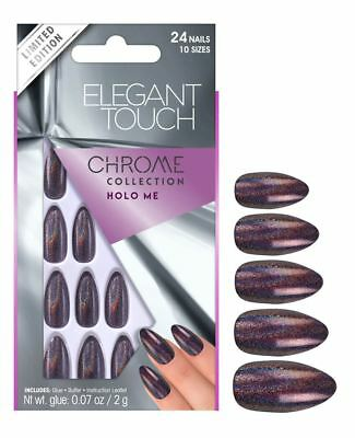 Elegant Touch False Nails - Chrome Collection Holo Me (24 Nails)