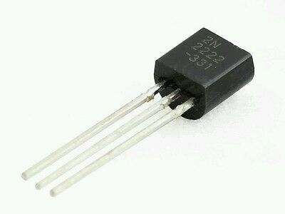 5-pcs 2N2222A 2N2222 NPN Transistor TO-92, great for Arduino
