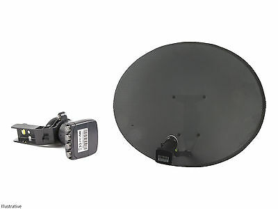 Sky / Freesat Satellite Dish with Quad LNB, use for Sky or Free TV Fast Delivery