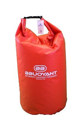 BBuoyant 60 Litre Waterproof Buoyant Dry Tube Bag - Red, Outdoor Water Sports