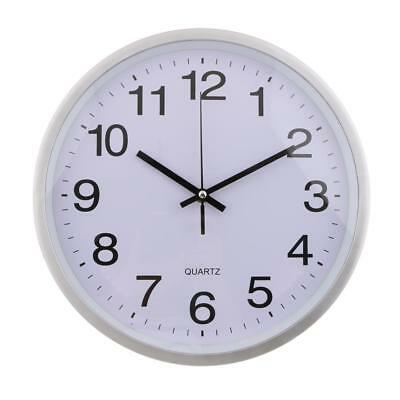 Battery Operated Round Wall Clock Silent Quartz Clock, 12-inch, Easy to Read