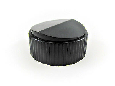 "1 3/4"" ""Mirror Finish"" Glossy Black Knob  - 1/4"" Shaft - Raytheon 175-1-2"
