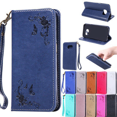 Flip Leather Wallet Magnetic Case Cover For Samsung  A3 A5 A7 J3 J5 J7 2017 2016