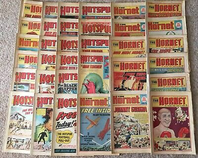 Collection of 35 Hotspur and Hornet comics from 1969 to 1972