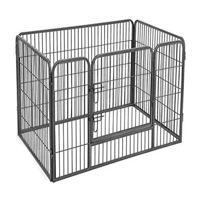 Extra Large 4 Sided Heavy Duty Pet Puppy Playpen Crate Pen Welping Dog Cage UKES