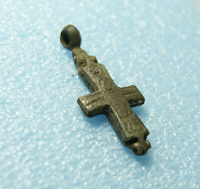 Ancient Reliquary Enkolpion Cross Kievan Rus, Byzantine, Viking c 11-13 AD