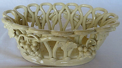 """Vintage Italy Hand Made Ceramic Pottery Centerpiece Fruit Bread Basket Bowl 11"""""""
