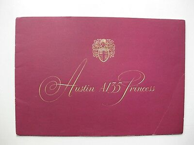Austin A135 Princess prestige brochure Prospekt English 1955 16 pages