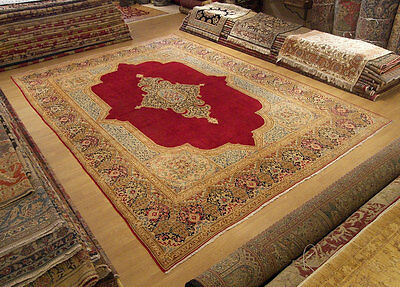 Vintage 10 x 14 Fine Quality Handmade Antique1930 Persian Oriental Wool Area Rug