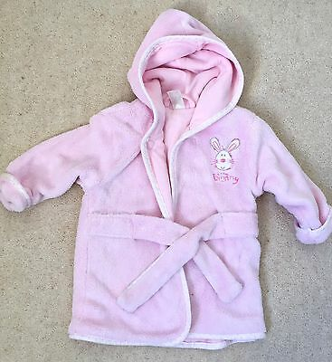 Baby 9-12 months pink dressing gown