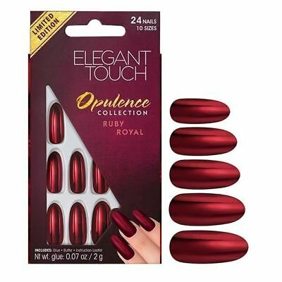ELEGANT TOUCH FAUX ONGLES - OPULENCE RUBIS Royal (24 ongles)