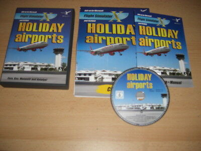 HOLIDAY AIRPORTS Pc DVD Rom Add-On Flight Simulator 2004 X FS2004 FSX NEW UNSEAL