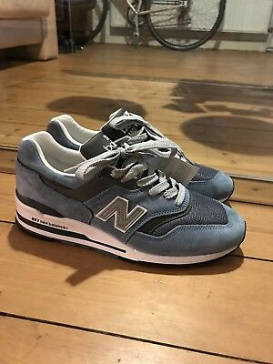 NEW Balance 1500 Deadstock UK 8 42 BLACK GREY WHITE MADE IN ENGLAND US 85