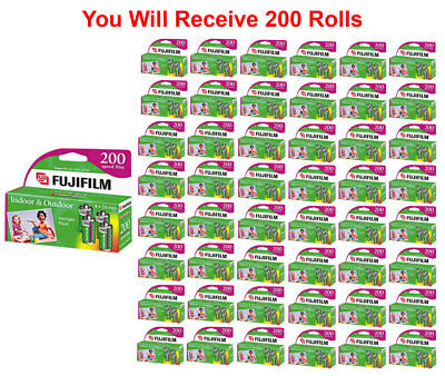 200 Rolls Fuji 200 35mm Film 4pk CA 135-24 Exp Fuji Camera Wholesale 04/2019