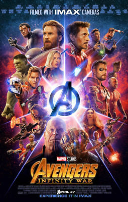 """Avengers Infinity War ( 11"""" x 17"""" ) Movie Collector's Poster Print (T2 ) - B2G1F"""