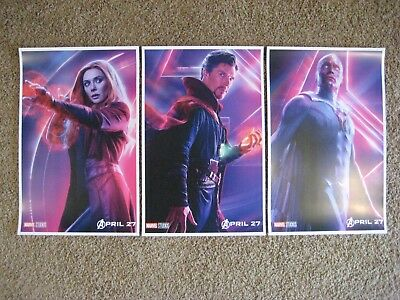 "Avengers Infinity War ( 11"" x 17"" ) Movie Collector's Poster Prints ((Set of 3))"