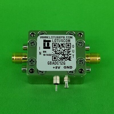 Gain Block Amplifier 4.3dB NF DC~12GHz 16dB Gain 15dBm P1dB SMA