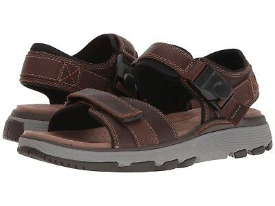 a348fea6078b Men s Shoes Clarks Un Trek Part Casual Strap Sandals 31860 Dark Tan Leather  New