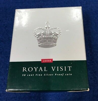 2000 50c ROYAL VISIT Silver Proof Coin