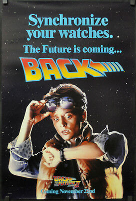 Back To The Future Ii 1989 Orig 27X40 Marty Ds Movie Poster Michael J. Fox