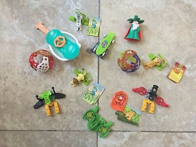Lot Of 12 Assorted Miniature Collection Small Kinder Egg Figures Toy Joy