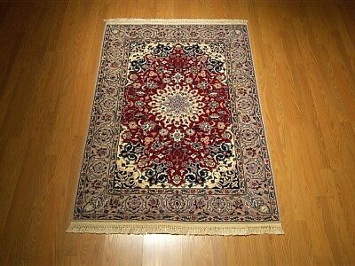 3.6 x 5.3 Handmade High Quality Persian Nain Rug _Soft Fine Kork Wool  Excellent
