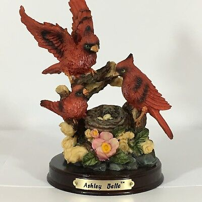 """Northern Red Cardinal Family Figurines by Ashley Belle 6 1/2"""""""