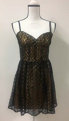 014c2b25f84b ANTHROPOLOGIE TULLE DRESS Yellow Butterfly Wings Of Gold Pockets ...