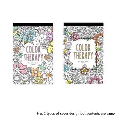 Color Therapy Coloring Books for Adult Postcards Hand Drawn Greeting Card