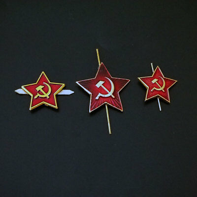 Red Star Hat Pin Badge  Soviet  Military Russian Army 3 pst (lot2)