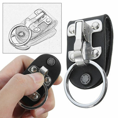 Stainless Steel Quick Release Detachable Key Chain Belt Clip Holder For Car Keys