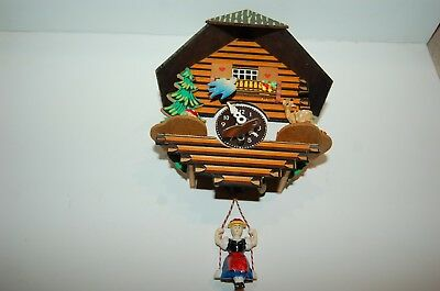 German Mini Cuckoo Clock spring action complete Black Forest style Made Germany