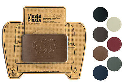 MastaPlasta Self-Adhesive Leather Repair Patch CROWN 10x6cm Sofa Car Seat Bags