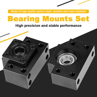 Fixed Floated Side End Supports Bearing Mounts Set for Ball Screw 10/12/15mm H~Q