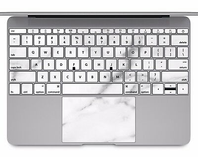 Macbook Pro Air 13 15 keyboard Stickers cover Decal Skins white marble KB038