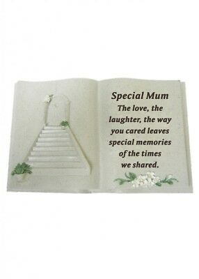Special Mum Stairway to Heaven Graveside Memorial Plaque Book Grave Ornament