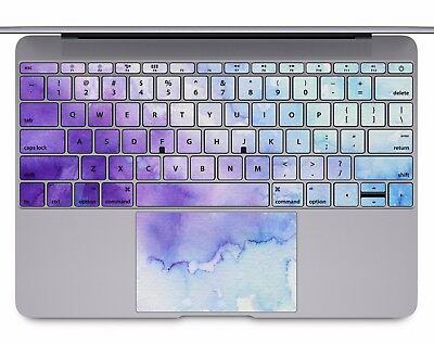 Macbook Pro Air 13 15 keyboard Stickers cover Decal rainbow watercolor KB500