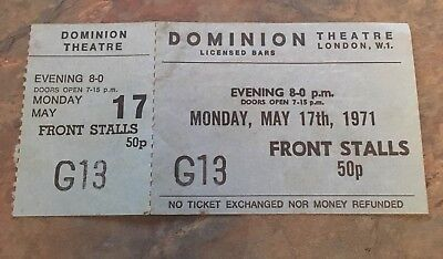 RARE - 1971 Vintage Ticket Scrooge Dominion Theater London 17th May