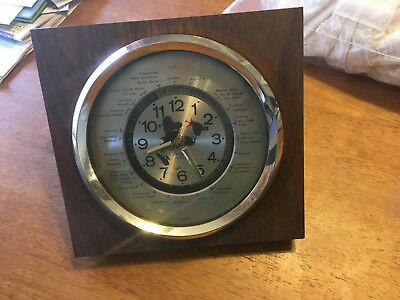 GMT battery operated Time Zones Desk World Clock Japan w/Quartz Movement