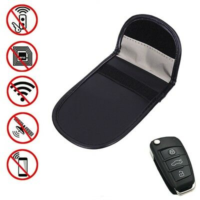 Phone Car Key Keyless Entry Fob Signal Guard Blocker Black Faraday Bag