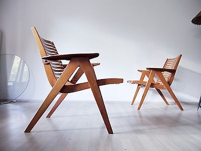 VERY RARE VINTAGE MID CENTURY 1950s REX 120 PLYWOOD CHAIR BY NIKO KRALJ FOR STOL