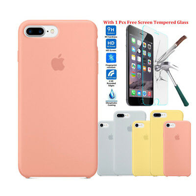 Apple IPhone X 6S 7 8 Plus Case,Original Genuine Apple Case Silicone Case Cover