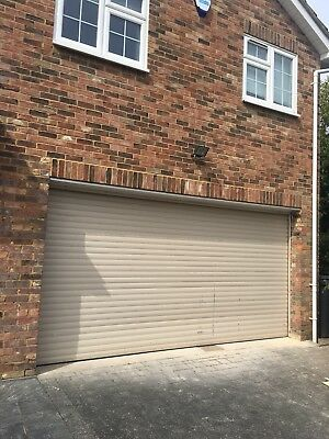 Double Garage Roller Door 14 Feet Wide With Electric Unit 2 Fobs