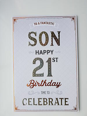 To a fantastic son happy 21st birthday card 289 picclick uk to a fantastic son happy 21st birthday card bookmarktalkfo Image collections