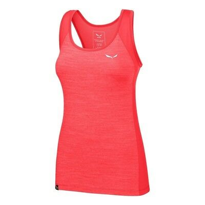 (38/32, Hot Coral Melange/1840) - Salewa pedroc 2 Dry W, Tank Top Women,