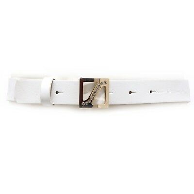4888V cintura bimba SIMONETTA white belt leather girl kid