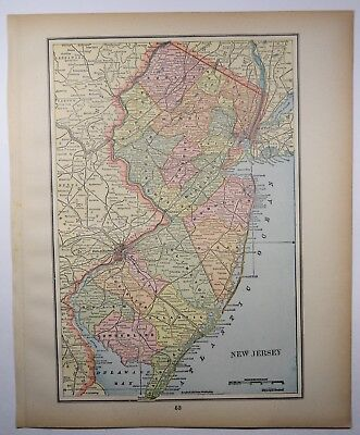 Antique Map Of Florida.Antique Florida State Map Fl Old Print Vintage Map Art 1893