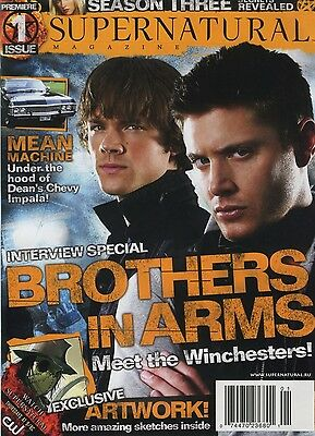 Supernatural magazine issue 1 UK Jensen Ackles  Grade A mint new and sealed