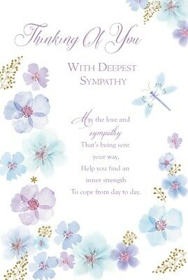 thinking of you with deepest sympathy card 2 99 picclick uk
