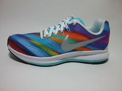 new product aade8 8b5c6 NIKE ZOOM PEGASUS 34 Print GS Kids Youth 881956-100 Size 3.5 Multicolor